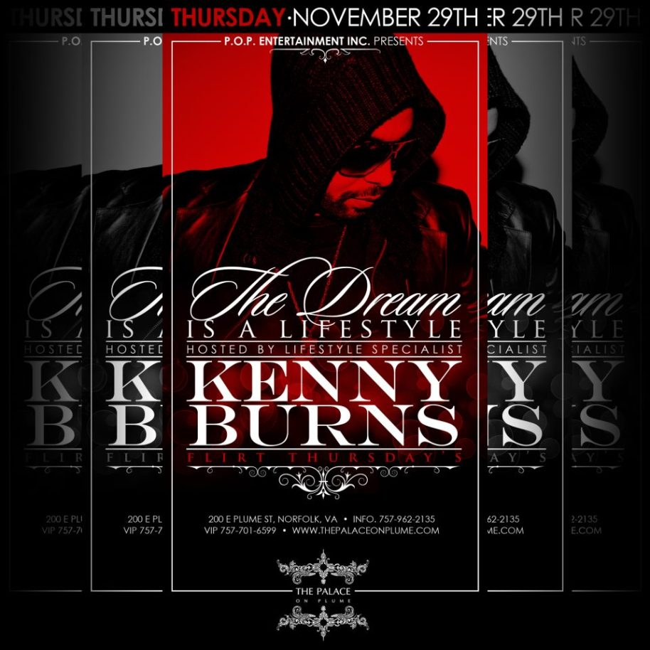 Kenny Burns at Palace on Plume 21+